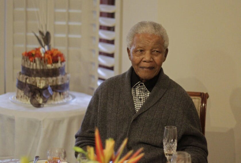 South Africa's Nelson Mandela is hospitalized for tests