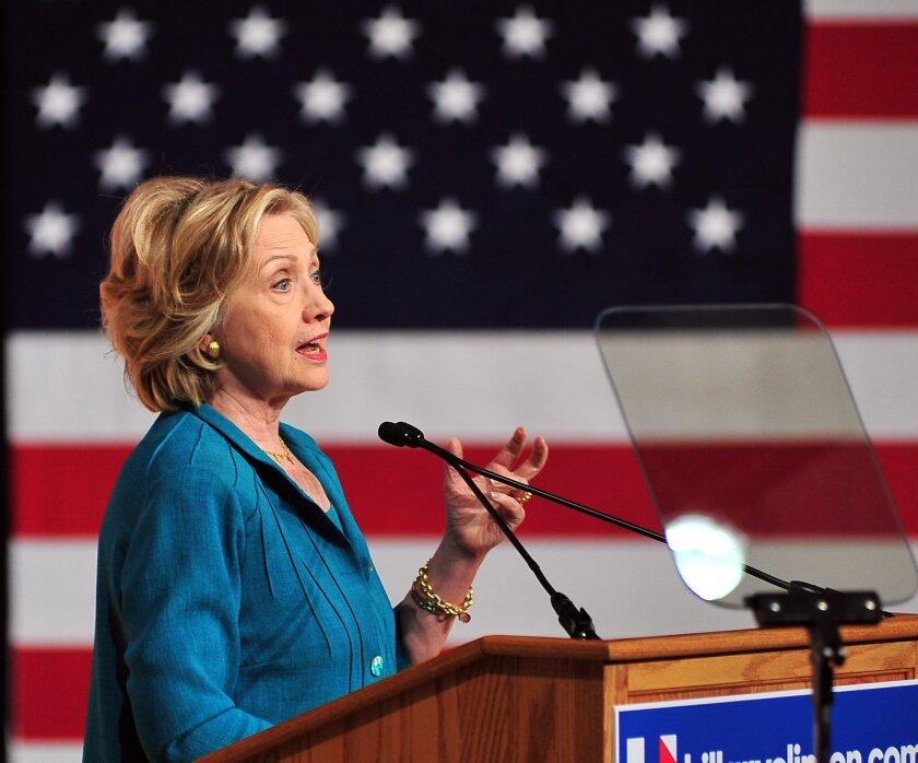 Hillary Rodham Clinton campaigns in Florida last week.