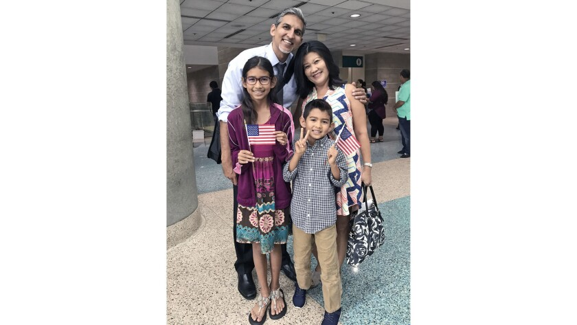Saranya Cheapchon, an Irvine mother of two, has lived in the U.S. since she was four and became a le