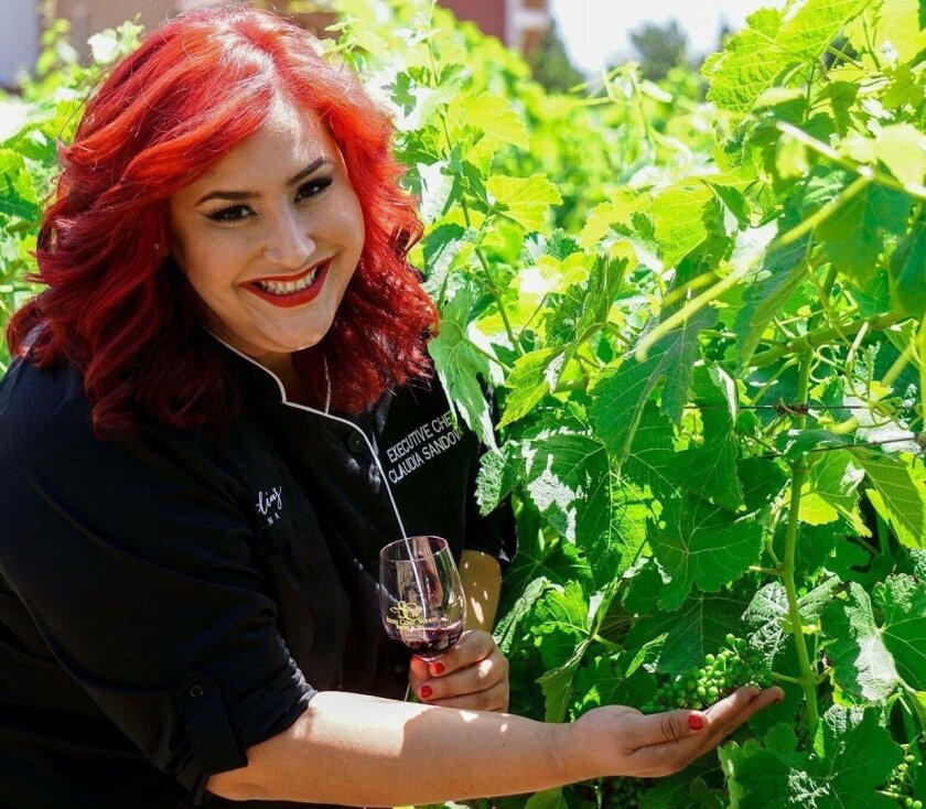 Chef Claudia Sandoval will make a seven-course pop-up dinner at South Coast Winery Friday.