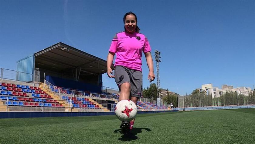 La jugadora mexicana del Levante, Charlyn Corral, máxima goleadora de la Liga Iberdrola con veinticuatro goles. EFE