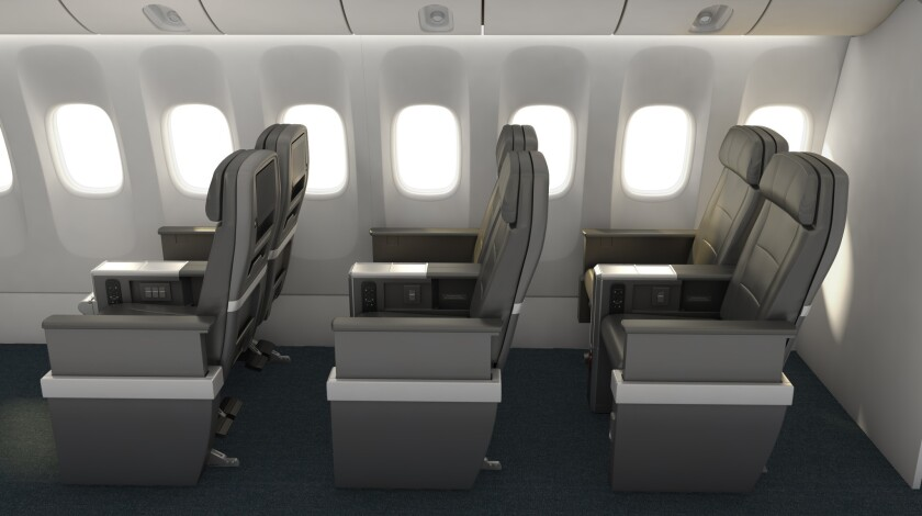 """American Airlines plans to introduce a """"premium economy"""" seat category on international flights in late 2016. It is expected to bridge the gap between business class and economy seats."""
