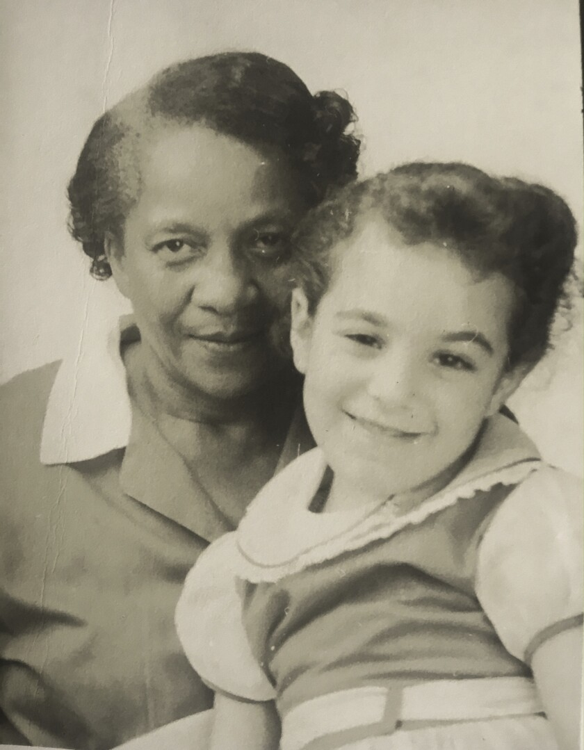 """An image of Colin Dayan (left) and her Nanny Lucille Nero (right) featured in Colin Dayan's book """"In"""