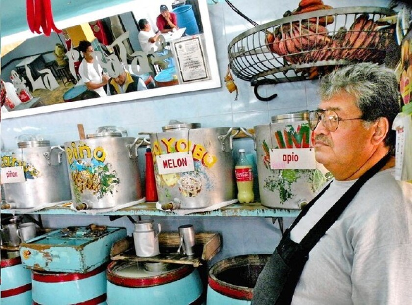 The legendary Aztec pulque was long considered the drink of the common man. It's served here at Pulquería la Pirata in Mexico City, poured by bartender Don Santiago.