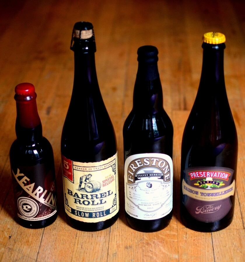 Four great locally brewed barrel-aged beers.
