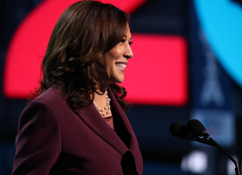 Democratic vice presidential candidate Kamala Harris