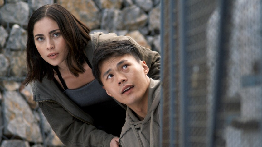"Priscilla Quintana and John Harlan Kim in ""Pandora"" on CW."
