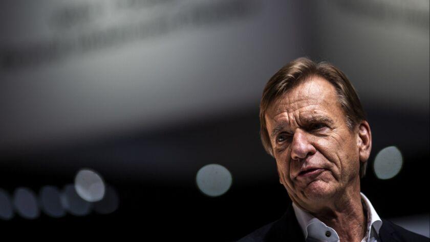LOS ANGELES, CALIF. - NOVEMBER 28: Håkan Samuelsson, CEO of the Volvo Car Group, talks during Volvo'
