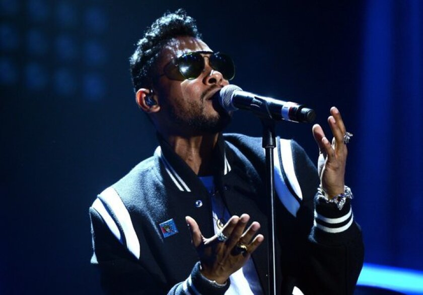 Miguel, arrested Thursday on suspicion of DUI, performs at the Hollywood Palladium on Aug. 1.