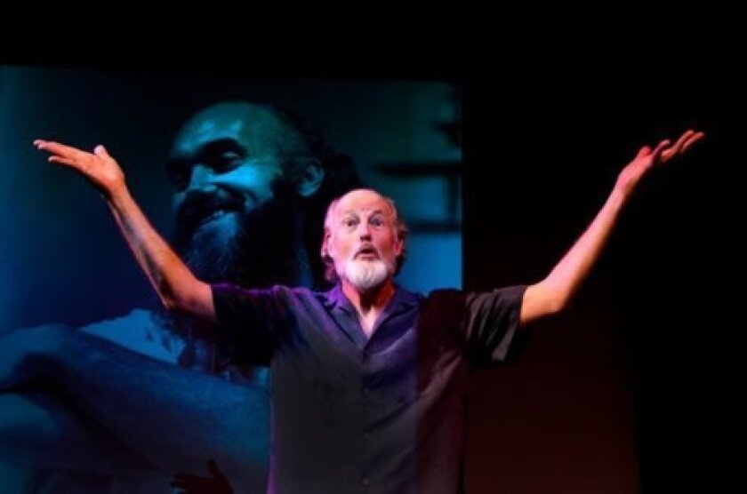 Warren David Keith stars as Ram Dass in 'Be Here Now,' at the Ocean Beach Playhouse Aug.15-17.