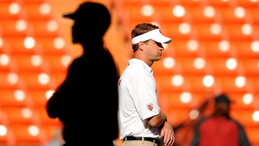 When Penn State's players were eligible to be recruited in the wake of NCAA sanctions, then-USC coach Lane Kiffin was at the ready.