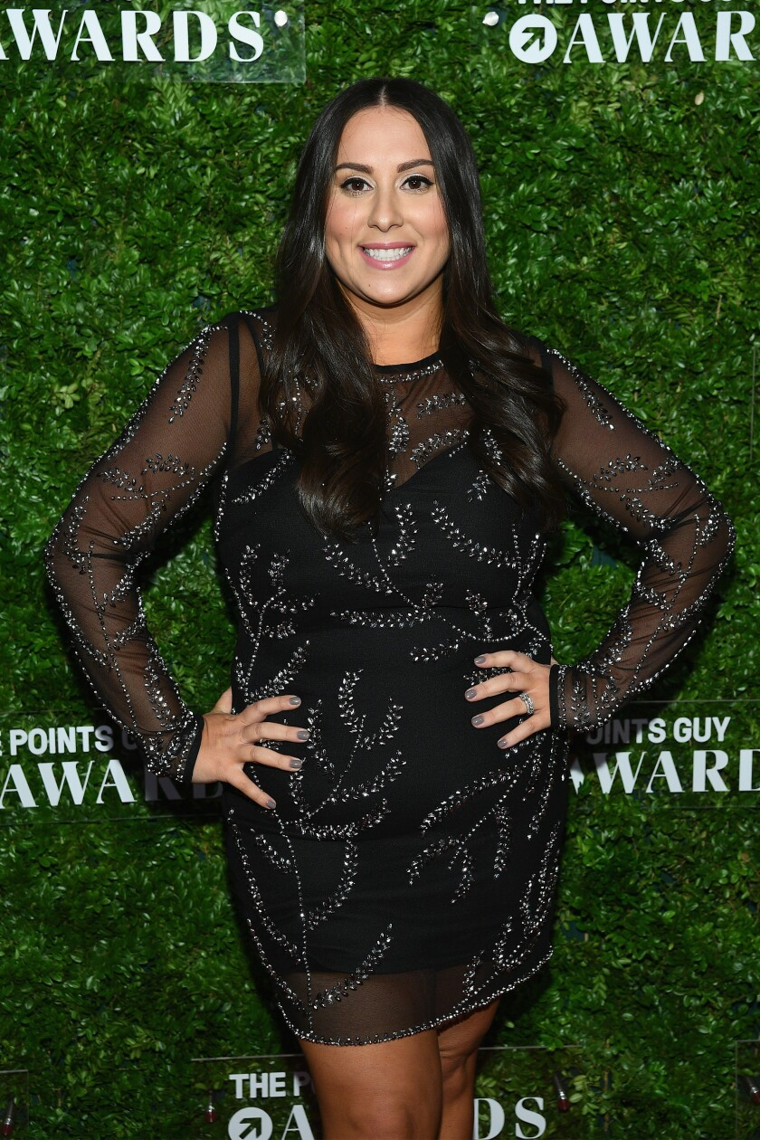 A photo of Claudia Oshry at the The Points Guy Awards on December 4, 2018 in New York City.