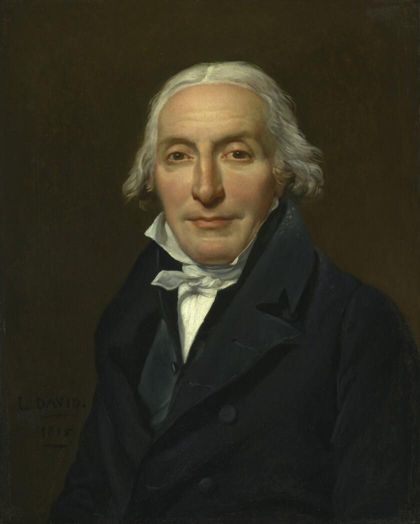 "Jacques-Louis David, ""Portrait of Jean-Pierre Delahaye,"" 1815, oil on panel"