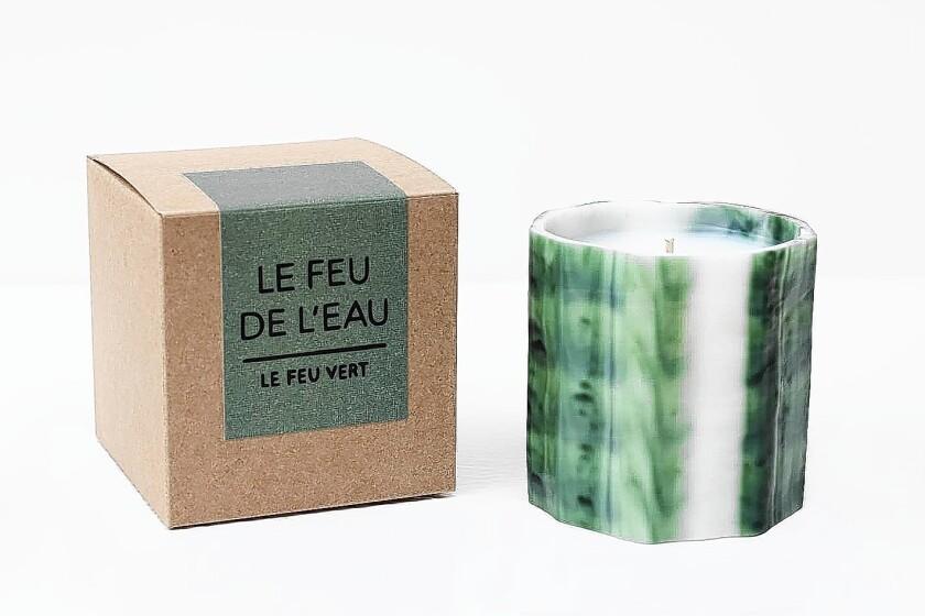 Le Feu de L'Eau candles by graphic designer and illustrator Wendy Polish.