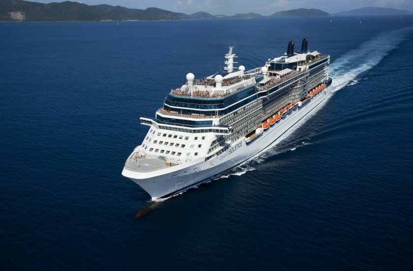 At 1,041 feet, the Celebrity Solstice is the longest cruise ship to call on San Diego.
