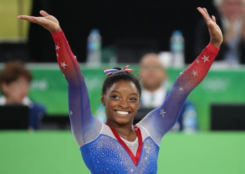 La gimnasta estadounidense Simone Biles. EFE/Archivo