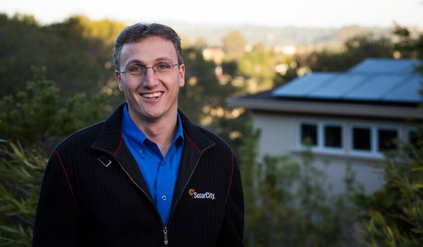 San Mateo-based SolarCity, led by CEO Lyndon Rive, announced a partnership with Airbnb on Tuesday.