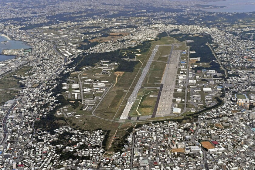 U.S. Marine Corps Air Station Futenma in Ginowan, Japan.