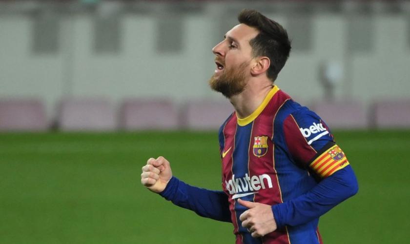 El delantero argentino del Barcelona Lionel Messi