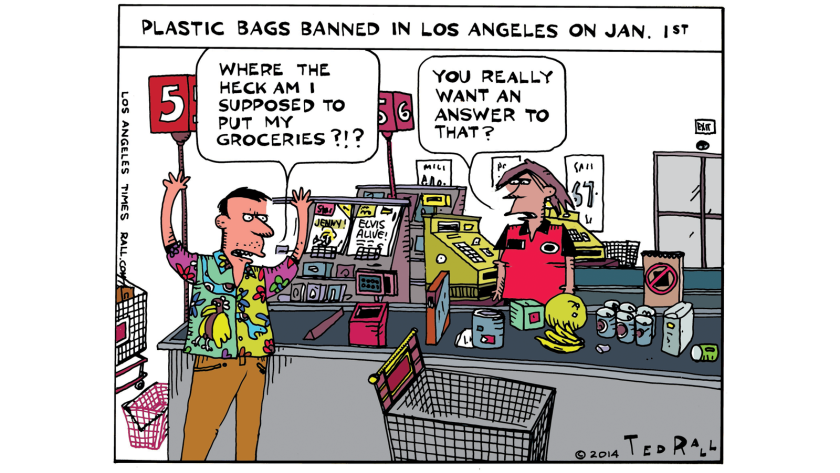 On Jan. 1, Los Angeles became the nation's largest city to ban plastic bags.