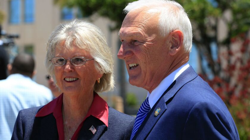 San Diego County Supervisor Dianne Jacob with Ron Roberts held a press conference where they unveile