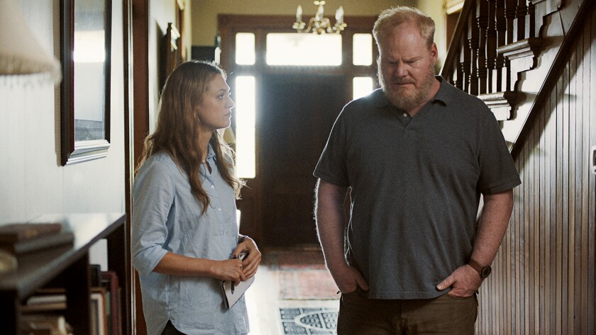"Marin Ireland and Jim Gaffigan in the movie ""Light From Light."""