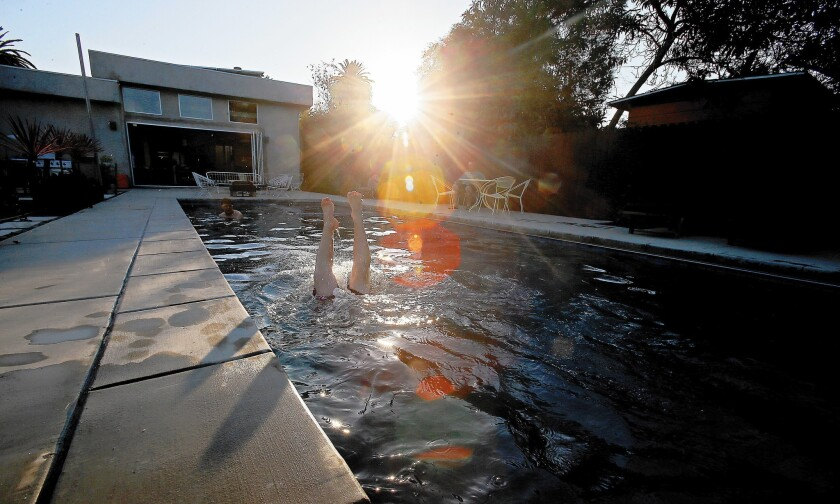 The Sieferts in Mar Vista sometimes feel guilty about their family's pool, but analyses suggest they shouldn't.