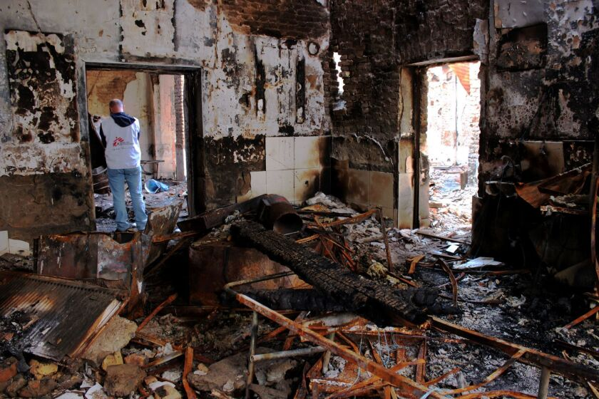 The result of a U.S. airstrike on a Doctors Without Borders hospital in northern Kunduz, Afghanistan.