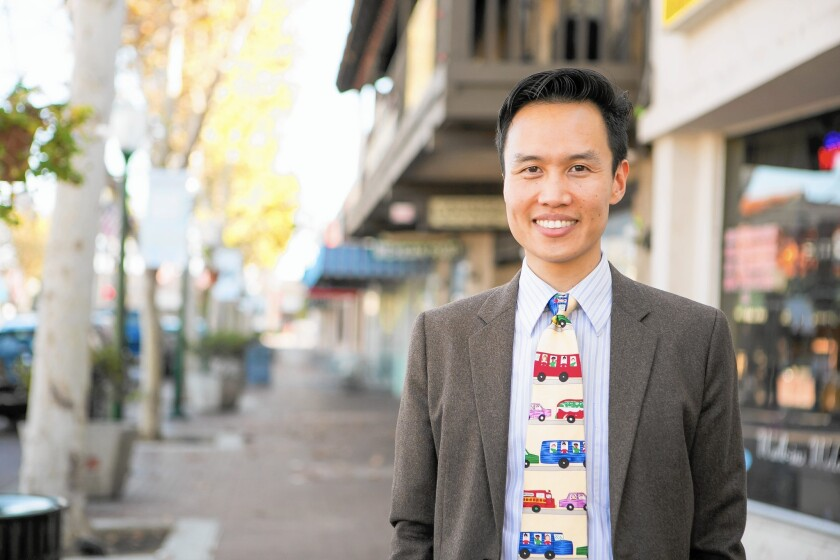 Bao Nguyen, in photo, narrowly beat veteran politician Bruce Broadwater to become mayor of Garden Grove. In neighboring Westminster, Mayor Tri Ta was decisively reelected.