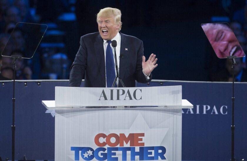 Trump at AIPAC