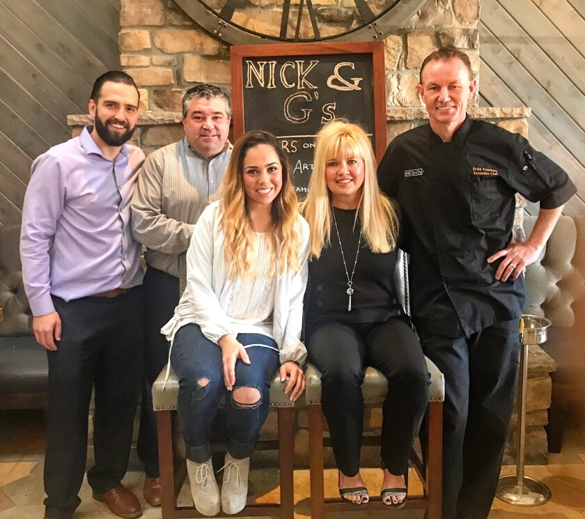 Nick & G's management team: Kevin Ashe, Tim Snyder , Leah Mizrahi, Sandy Dicicco and Brian Freerksen