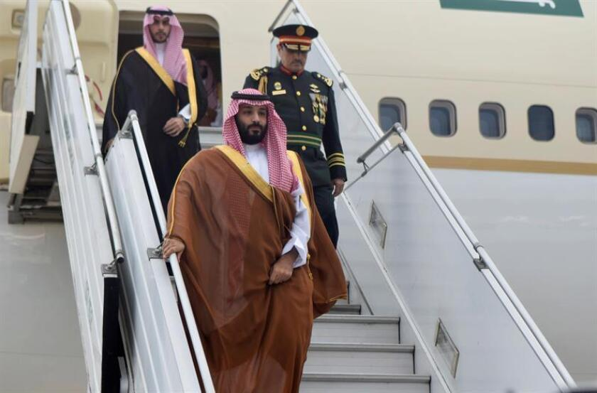 A handout photo made available by the G-20 Organization shows the arrival of Saudi Arabia's embattled crown prince, Mohammed bin Salman, in Buenos Aires, Argentina, on Nov. 28, 2018, for the G-20 summit. EPA-EFE/G20 ORGANIZATION/HANDOUT