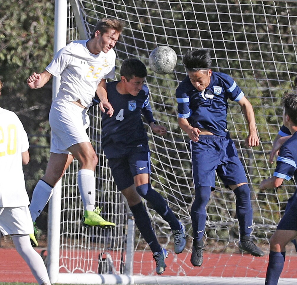 Photo Gallery: Crescenta Valley boys' soccer in tough CIF Divsion III first round game against Brea Olinda