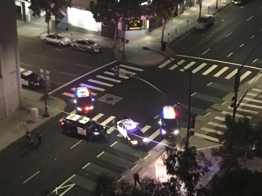 San Diego police are investigating a shooting that occurred around 10:15 p.m. on Sixth Avenue near A Street. One person was injured.