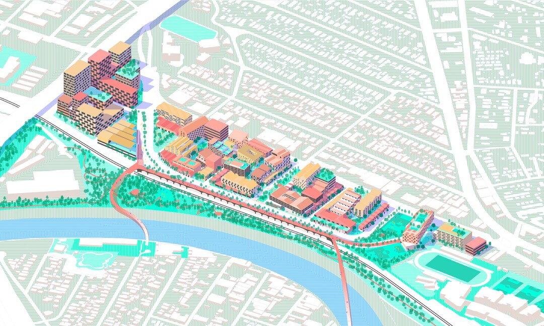 A study for the San Fernando Road area by Bestor Architecture