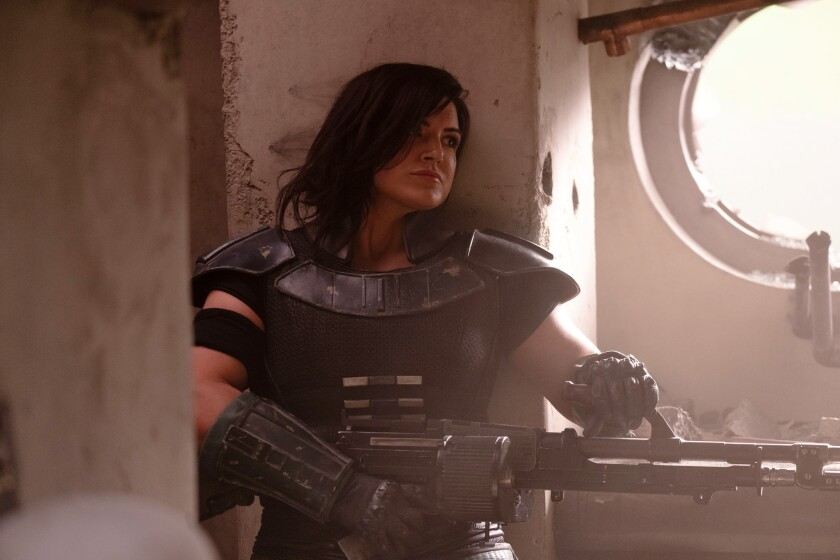 "Gina Carano in ""The Mandalorian."""
