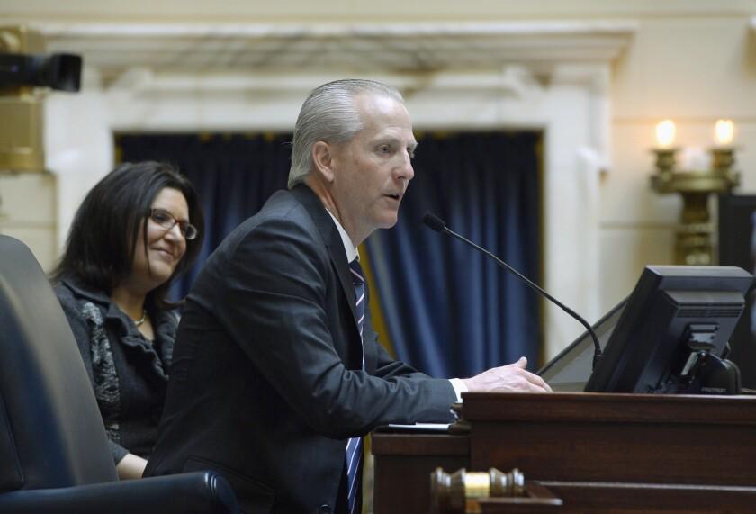 Utah Senate President Wayne Niederhauser, here in file photo, apologized after an intern in his office tweeted a joke about transgender people.