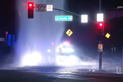 Vehicle flees scene after knocking off fire hydrant