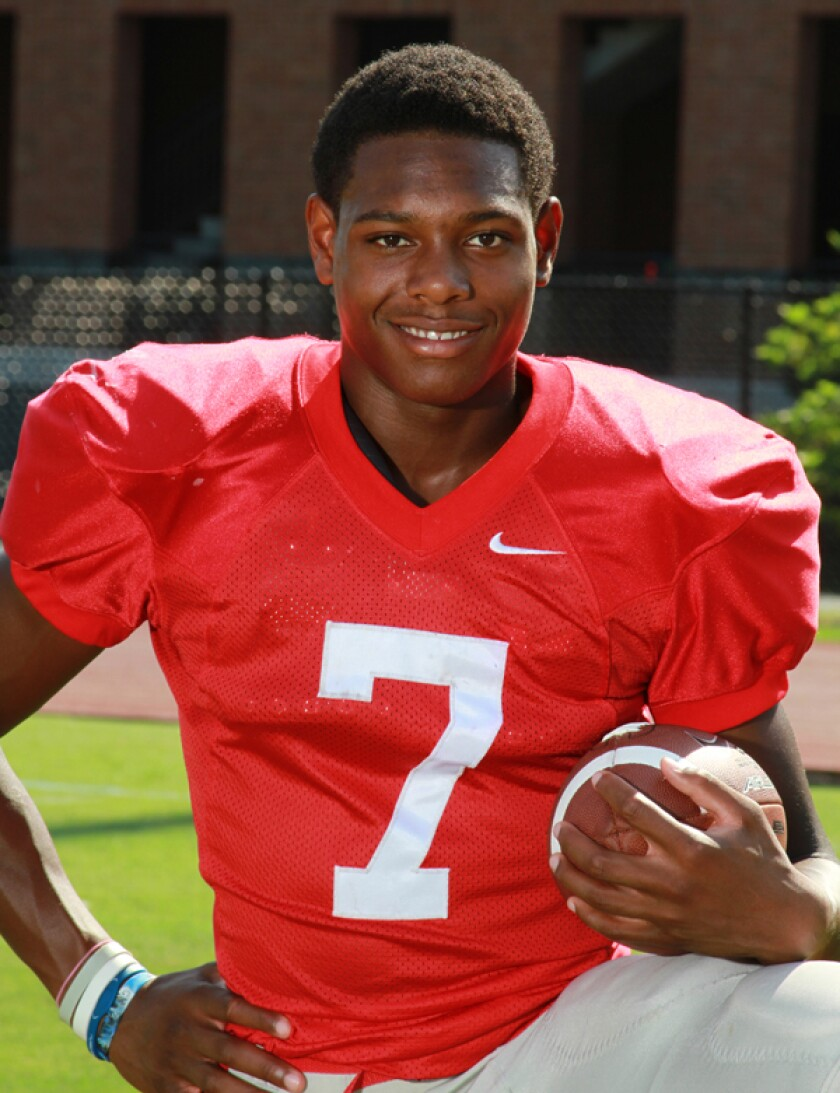 Jalen Ramsey in high school at Brentwood Academy in Brentwood, Tenn.