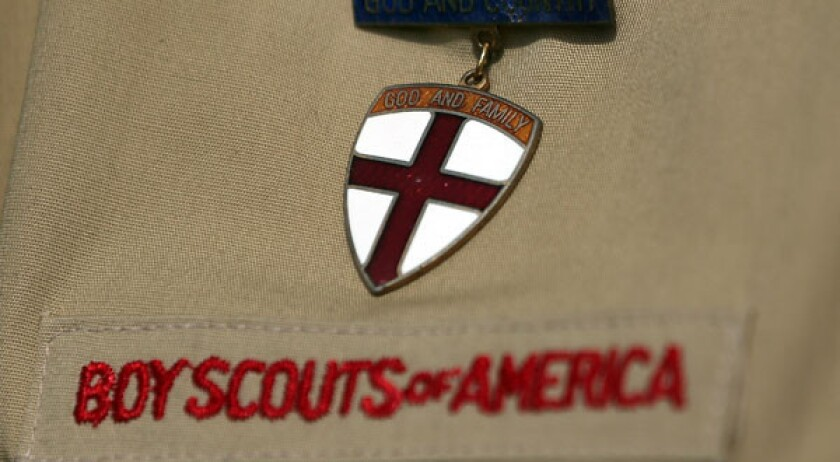 Groups fight over Scouts' ban on gays with a petition and prayer