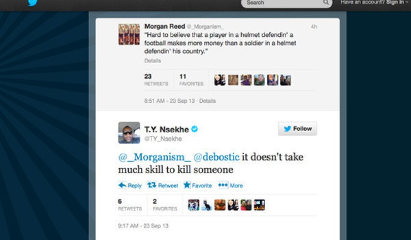 Rams officials distance team from Ty Nsekhe after controversial tweets