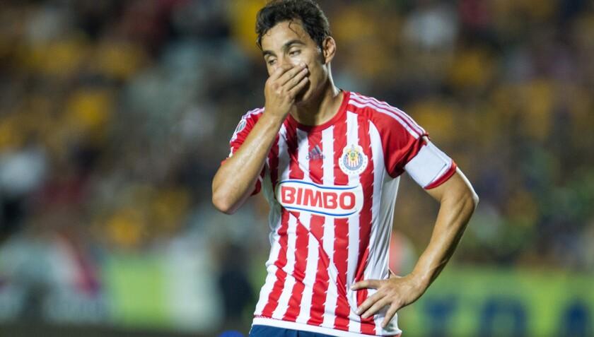 Omar Bravo, delantero de las Chivas.