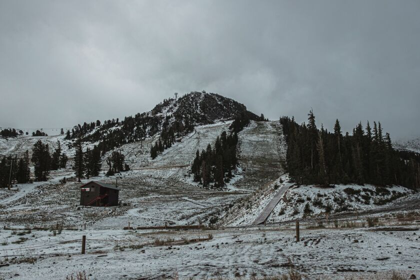 Mammoth gets first snow of the season after a very short summer