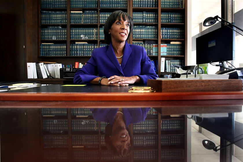 Los Angeles District Attorney Jackie Lacey.