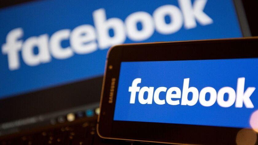 Facebook logos.