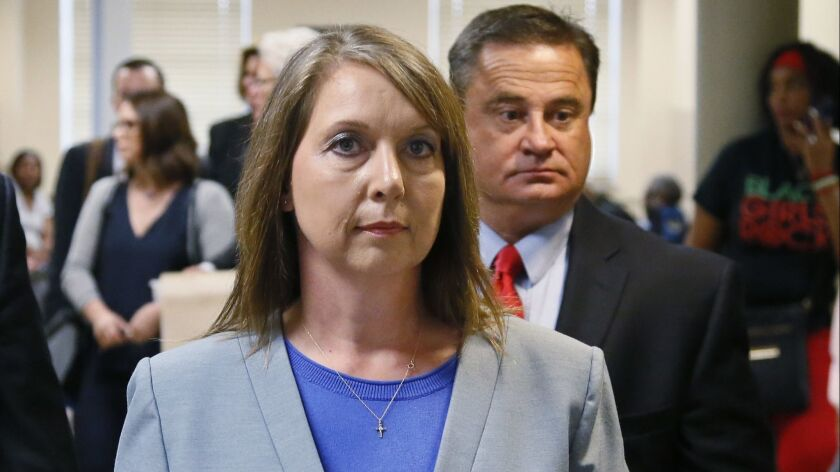 Betty Shelby, shown in 2017, will not face federal civil rights charges in the fatal shooting of Terence Crutcher.