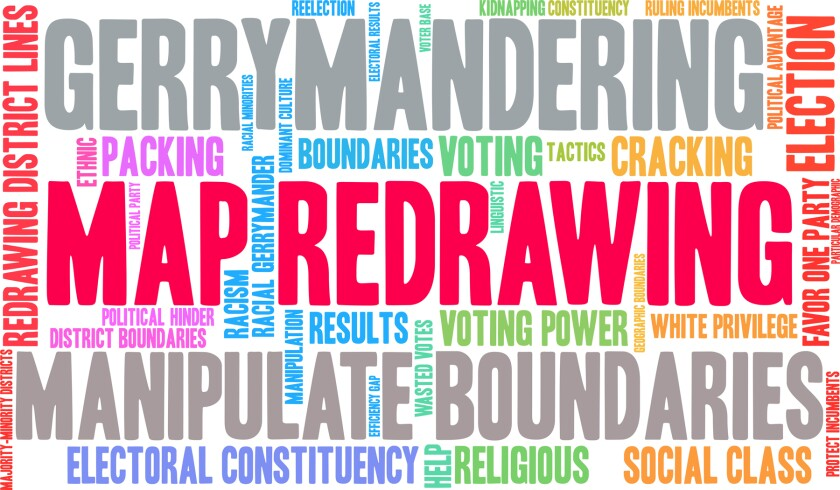 words related to gerrymandering