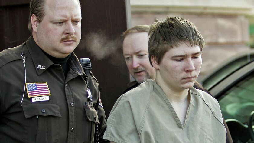 Brendan Dassey, is escorted out of a Manitowoc County Circuit courtroom in 2006.