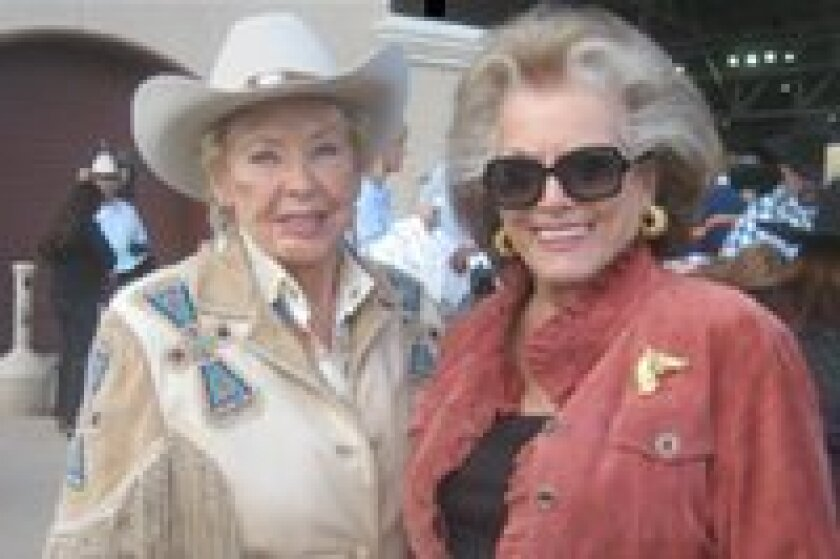 """""""Teens, Jeans and Dreams"""" team penning event will be held on Saturday, Sept. 8, at 5 p.m. at the Del Mar Fairgrounds.  Pictured here are Friends of San Pasqual Academy members and supporters Donna Herrick and the 2012 Chairperson of """"Teens, Jeans and Dreams,""""  Connie McNally."""