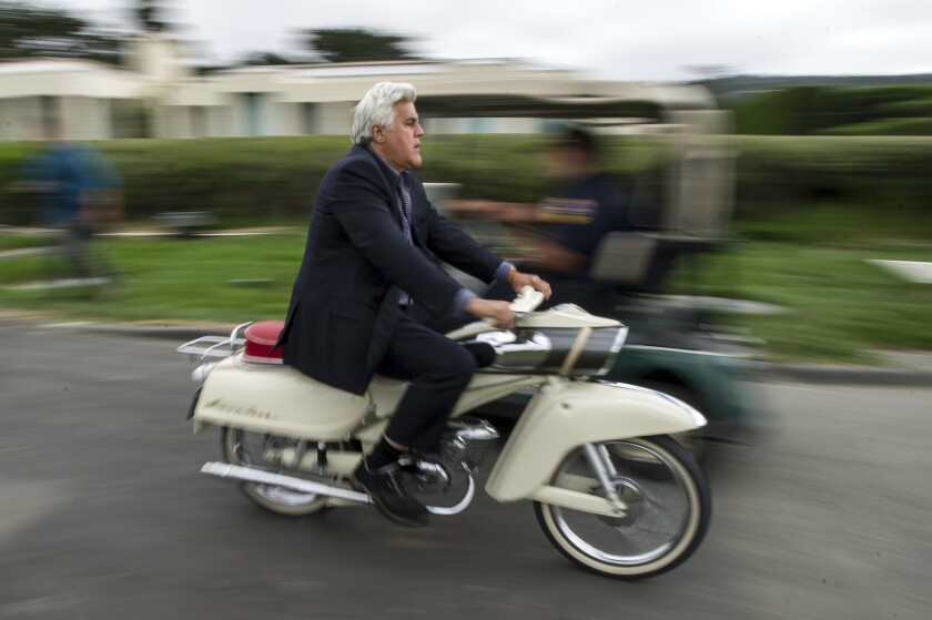 Jay Leno, on a 1964 Zwierad Union Kavalier